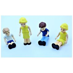 VERY RARE VINTAGE LITTLE TIKES KIDS TOYS FIGURES PEOPLE X4 GREAT CONDITION