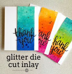 Hello! I am back (finally!) with a video showing how to create glitter inlay die cuts. I also am part of a very special blog hop with giveaways!
