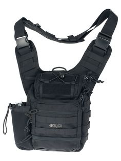Ambidextrous strap for equal comfort when worn on either the right or left shoulder Deep, padded main compartment for transporting sensitive equipment such as cameras and firearms Adjustable water bottle holder Quad-point cushioning system allows bag to move and rest comfortably against body Internal organization system for securing firearm magazines, tools, and other items Made of 600 denier Dimensions: 11.5″x10″x8″ …