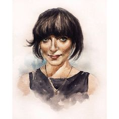 The sweetest person ever,Elena Tonra from @ohdaughter #elenatonra #daughter #band #artwork #watercolor #musician #portrait #painting #allyflow #fanart #mine