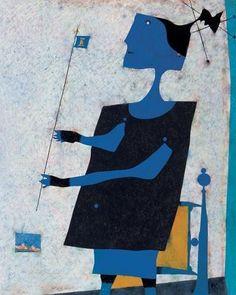 "ymutate: "" Jean-Philippe Dallaire La vençoise, 1960-61 "" Jean Philippe, Canadian Artists, Oeuvre D'art, Les Oeuvres, Folk Art, Blues, Paintings, Painters, Artists"