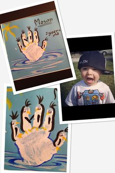kids handprint idea:  Organized Chaos ~ Life of a Mom: Craft of the Week... HANDPRINT penguins