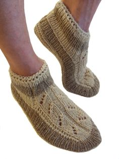 Hand knitted slippers 100% lamb wool male man by galapagospg