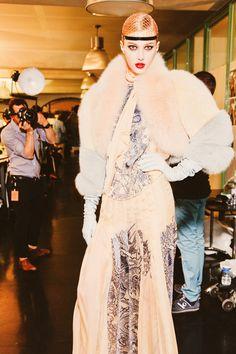 Backstage Jean Paul Gaultier Haute Couture Winter 2012.