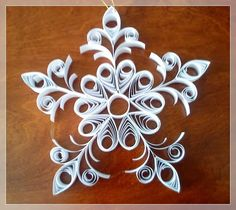 Christmas window decoration Quilling Images, Snowflakes, Creative, Christmas, Window, Decoration, Xmas, Decor, Snow Flakes