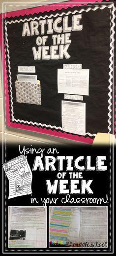 My new favorite homework: Articles of the Week!
