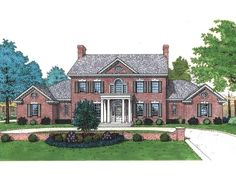 Greek Revival House Plan Front of Home for Home Plan also known as the Scarborough Luxury Home from House Plans and More. Colonial Exterior, Colonial House Plans, House Plans And More, Luxury House Plans, Plan Front, Southern Homes, Future House, Luxury Homes, Floor Plans