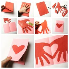 Kids Crafts thanksgiving diy crafts for kids Valentine's Day Crafts For Kids, Valentine Crafts For Kids, Valentines Diy, Holiday Crafts, Diy And Crafts, Paper Crafts, Kids Diy, Kids Fathers Day Crafts, Recycled Crafts