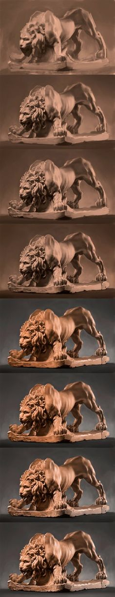 Based on clay sculpture by Gian Lorenzo Bernini Painting Process, Process Art, Digital Painting Tutorials, Art Tutorials, Concept Art Tutorial, Drawing Studies, Cg Art, Creature Design, Art Tips