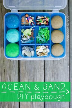 Super squishy, easy to make ocean and sand playdough recipe. Toddler Play, Toddler Snacks, Toddler Crafts, Toddler Activities, Crafts For Kids, Toddler Bed, Beach Activities, Children Play, Therapy Activities