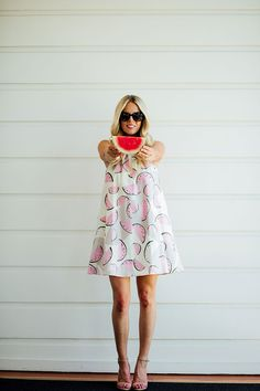 The sweetest summer outfit - a sundress is the easiest way to get through the heat of summer. Click through for more on this adorable watermelon print dress.