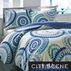 City Scene Radius Cotton Reversible 3-piece Comforter Set | Overstock.com Shopping - Great Deals on City Scene Comforter Sets