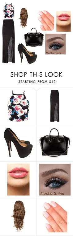 """""""A"""" by photogrpahyphreak on Polyvore featuring Helmut Lang, Christian Louboutin, Givenchy, LASplash, Elegant Touch, women's clothing, women's fashion, women, female and woman"""