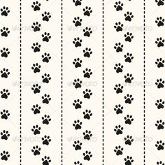 Seamless Animal Pattern of Paw Footprint.   #GraphicRiver         Seamless animal pattern of paw footprint and polka dot. Can be used for wallpaper, pattern fills, web page background,surface textures                     Created: 28 November 13                    Graphics Files Included:   JPG Image #Vector EPS                   Layered:   No                   Minimum Adobe CS Version:   CS             Tags      abstract #animal #background #black #cat #contour #fabric #foil #foot #footprint…