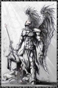 tattoo s angel warrior tattoo guardian angel tattoo tattoos warrior Neue Tattoos, Body Art Tattoos, Tattoo Drawings, Sleeve Tattoos, Cool Tattoos, Wing Tattoos, Ship Tattoos, Tattos, Archangel Michael Tattoo