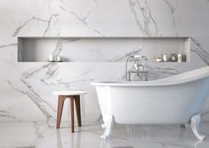 Place White Marble Floor Tile Roomset