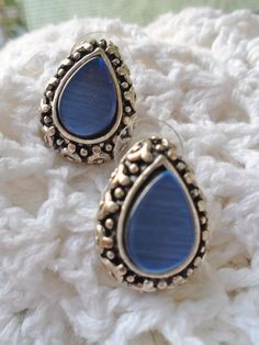 Vintage Thermoset Pearlescence Serenity Blue Silver Art Deco Retro Mothers Day…