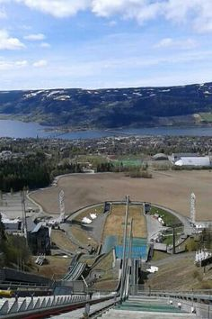 Norway, Lillehammer Olympiaparc. Beautiful view from the ski-jump
