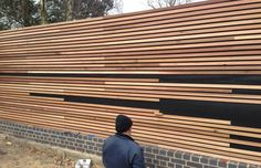 Visit our inspirational timber cladding gallery, with extensive pictures of real domestic and commercial projects using our cedar, Siberian larch and Thermowood exterior cladding. Timber Battens, Cedar Cladding, House Cladding, Timber Screens, Exterior Cladding, Pond Design, Fence Design, Landscape Design, Garden Design