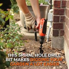 Drilling holes in your garden has never been so easy with our Spiral Hole Drill Planter! 🌱 🌱 #garden #plants #planting Garden Yard Ideas, Lawn And Garden, Garden Tools, Cool Garden Ideas, Diy Garden Ideas On A Budget, Diy Garden Projects, Cool Ideas, Easy Garden, Wood Projects