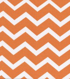 Keepsake Calico Fabric-Orange & White Chevron, Fabric option for M's flower girl dresses Chevron Fabric, Geometric Fabric, Orange Chevron, Nursery Fabric, Calico Fabric, Living Room Pillows, How To Make Pillows, Joann Fabrics, Online Craft Store