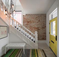 Classic Interior, Home Interior, Interior Design, Denver, New York Brownstone, Decoracion Vintage Chic, Wood Railing, Entry Way Design, Modern Staircase