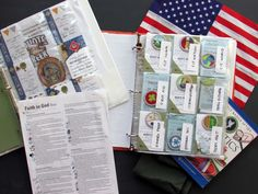 Get a Binder for your Scouting Boys! It's an easy way to keep track of the badges and cards. Keep your Faith in God Track Sheet in the binder too!