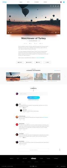 Vimeo Redesign on Web Design Served Website Design Layout, Blog Layout, Blog Design, Layout Design, Website Designs, Design Web, Blue Website, Minimalist Web Design, Mobile Web Design