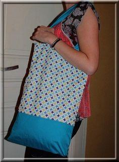 """Le premier sac """"couture"""" de Florence."""