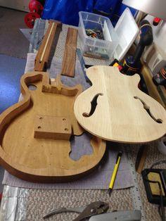 Semi Hollow Les Paul style guitar