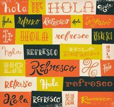 Typographies à l'encre indienne
