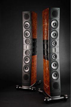 "Description The Raidho Acoustics D-5.1 is a true 3-way Raidho Diamond Driver loudspeaker. It has two dedicated 115 mm Diamond mid-range and four 8"" Diamond bass drivers. The Raidho Acoustics D-5.1 is"