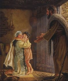 "A widow joyfully receiving her resurrected son from the prophet Elijah-""See, your son is alive""! Church Pictures, Religious Pictures, Bible Pictures, Christian Images, Christian Art, Catholic Art, Religious Art, Jesus Childhood, Elijah And The Widow"