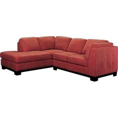 Oakdale 2 Piece Microsuede Left Facing Sectional Red Sofa With