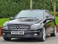Black Mercedes Benz C Class car