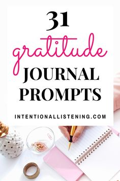 Are you looking to feel happier and content with your life? If so, check out these 31 gratitude journal prompts for an entire month of appreciation! Gratitude Journal Prompts, Practice Gratitude, Types Of Journals, Applied Psychology, Mental Health Journal, Water Games For Kids, Summer Fun List, Life Coaching Tools