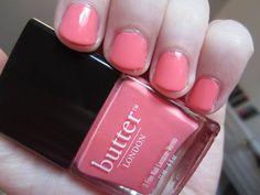 Trout Pout by butter London! Just finished painting them this colour and I love it!