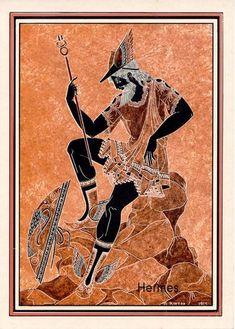 Ancient Greek Art, Ancient Greece, Ancient History, Greek And Roman Mythology, Greek Gods, Greek Paintings, Greek Pantheon, Greek Pottery, Minoan