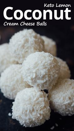 cream cheese recipes Its easy to make quick no bake keto snacks to satisfy a sweet tooth. These easy to make keto lemon coconut cream cheese balls combine two great flavors. Lemon Coconut, Coconut Recipes, Coconut Cream, Coconut Oil, Keto Coconut Fat Bombs, Cream Cheese Ball, Cream Cheese Fat Bombs, Keto Chocolate Fat Bomb, Low Carb Chocolate
