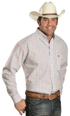 Wrangler George Strait Multi-Plaid Shirt available at #Sheplers