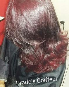 #haircut 💇 #ombrehairvermelho Corte em camadas