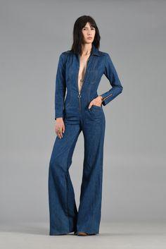Women Stonewash Destroyed Denim Jeans Ripped Hole Jumpsuit Denim ...