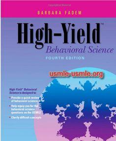 Download High yield Behavioral science Visit (MedBooksPDF) NOW #telegram https://t.me/freemedicalbooks
