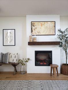Fireplace Tv Wall, Build A Fireplace, Basement Fireplace, Fireplace Built Ins, Bedroom Fireplace, Fireplace Remodel, Living Room With Fireplace, Fireplace Design, Home Living Room