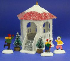"""View topic - Making a """"Gazebo"""". Christmas Village Display, Christmas Village Houses, Putz Houses, Christmas Villages, Christmas Home, Gingerbread Houses, Xmas, Holiday Crafts, Home Crafts"""