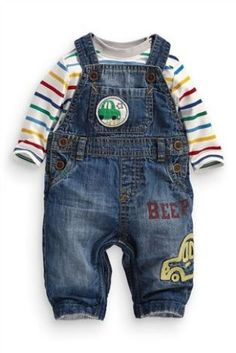 Denim Car Dungarees (0-18mths) by Next