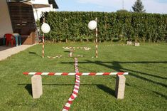 Show-jumping course for the horse party - Parcours für die Pferdeparty