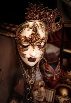 One of the many, many beautiful face masks that you can find in Venice, Italy.