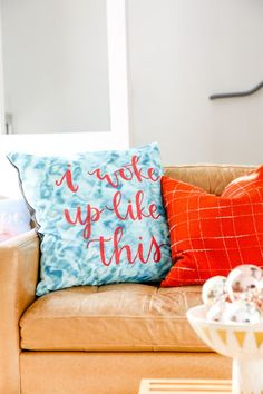 Getting Ready for the Holidays at Home with DIY Pillows + Cozy Textiles