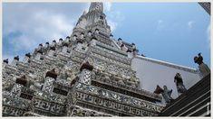 Wat Arun Bangkok Thailand, Louvre, Building, Temples, Buildings, Construction